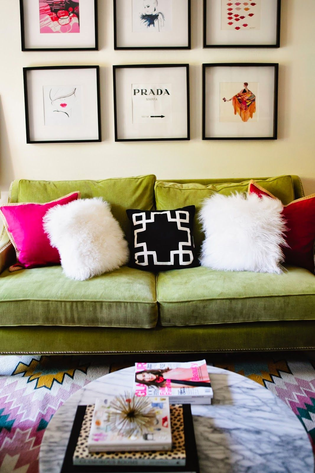 DevonRachel1 incorporated our elegant Pierre Sofa into her L.A. ...