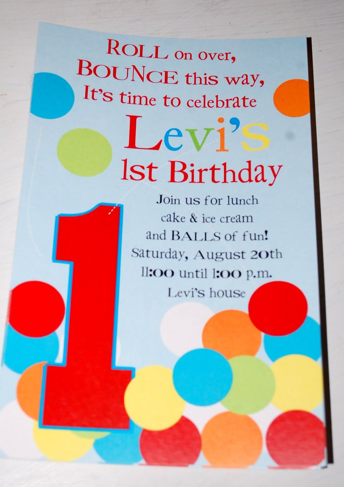 wording ideas forst birthday party invitation%0A Baby Face Design  Bouncey Ball birthday invitations  love the wording