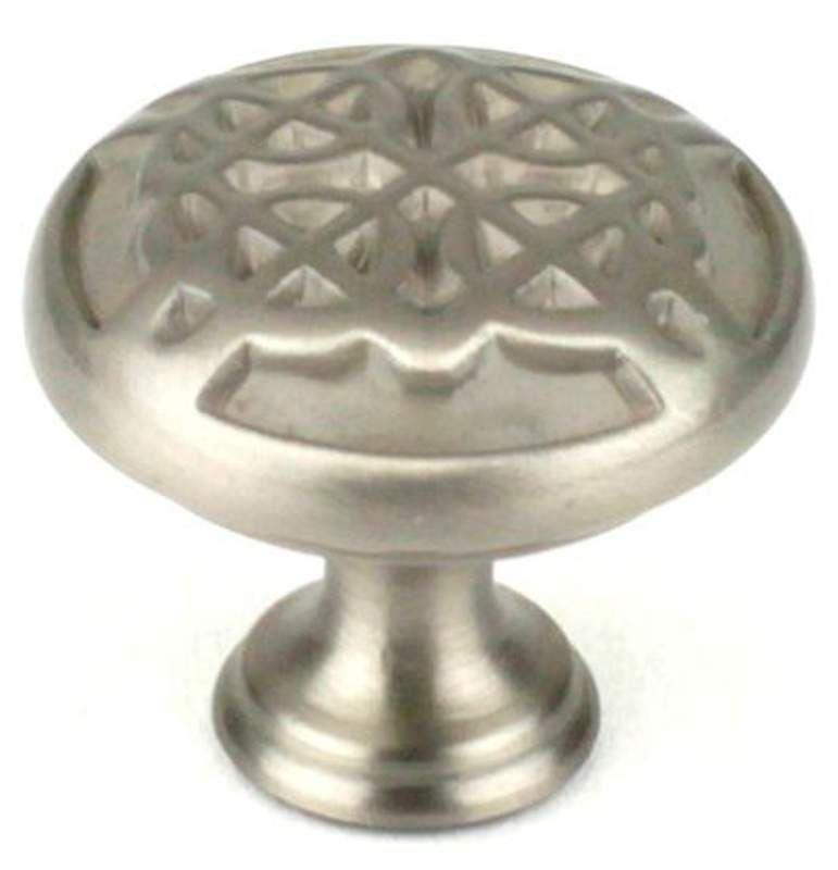 Century 29215 Highlander 1-3/8 Inch Diameter Mushroom Cabinet Knob Dull Satin Nickel Cabinet Hardware Knobs Mushroom