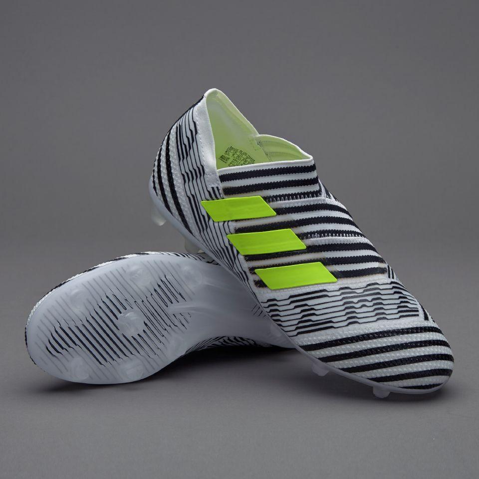 8246e526426f adidas Kids Nemeziz 17+ 360 Agility FG - White Solar Yellow Core Black
