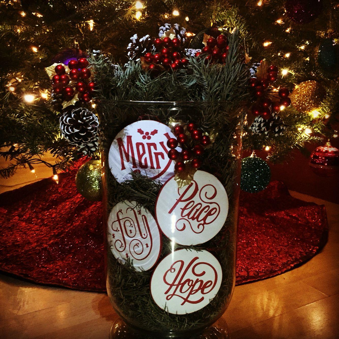 @crateandbarrel ornaments from last year ❤️