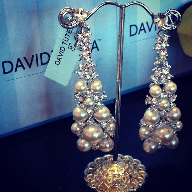 David Tutera Embellish wedding jewelry Yasmeen earrings David
