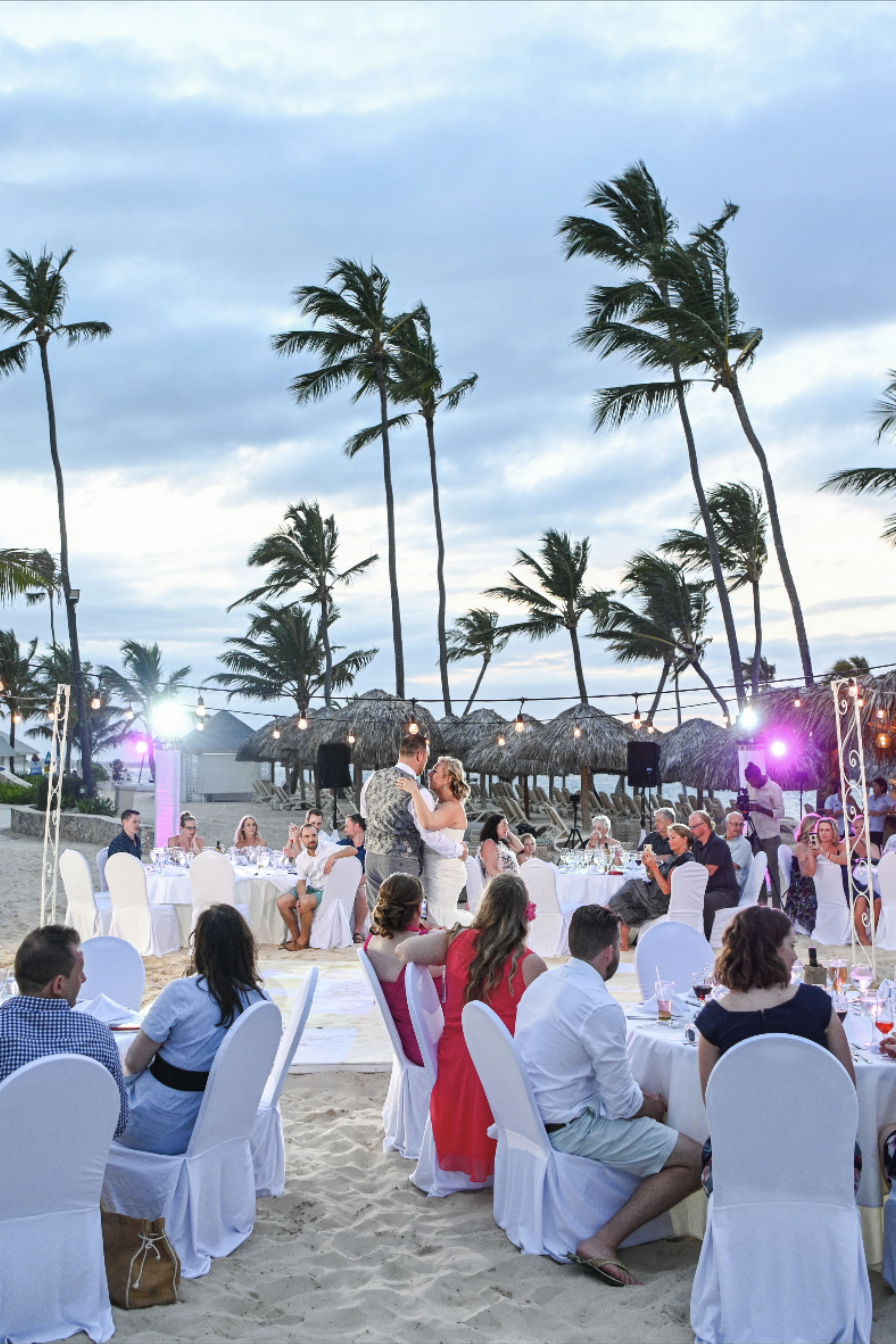 Beach Wedding First Dance Of A Wedding Couple In 2020 Wedding First Dance Punta Cana Wedding Wedding Ceremony Traditions