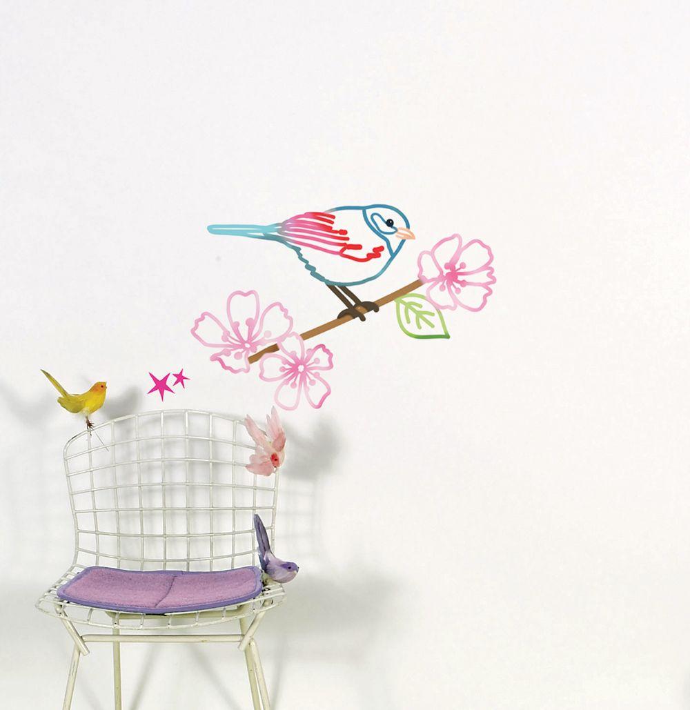 Wall Stickers, Oiseau Sur Branche