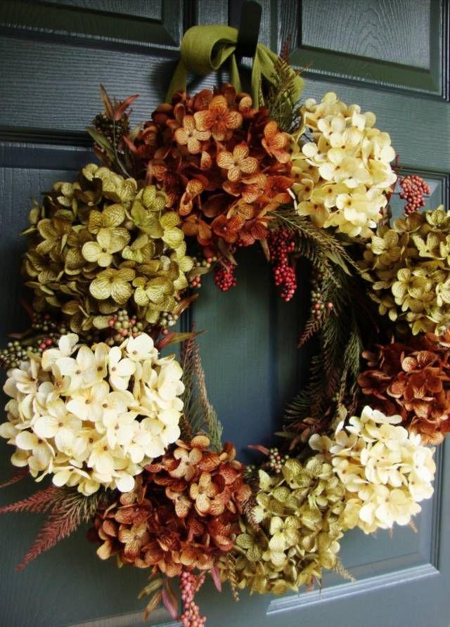 Idée de déco en automne- 100 couronnes de porte super Wreaths