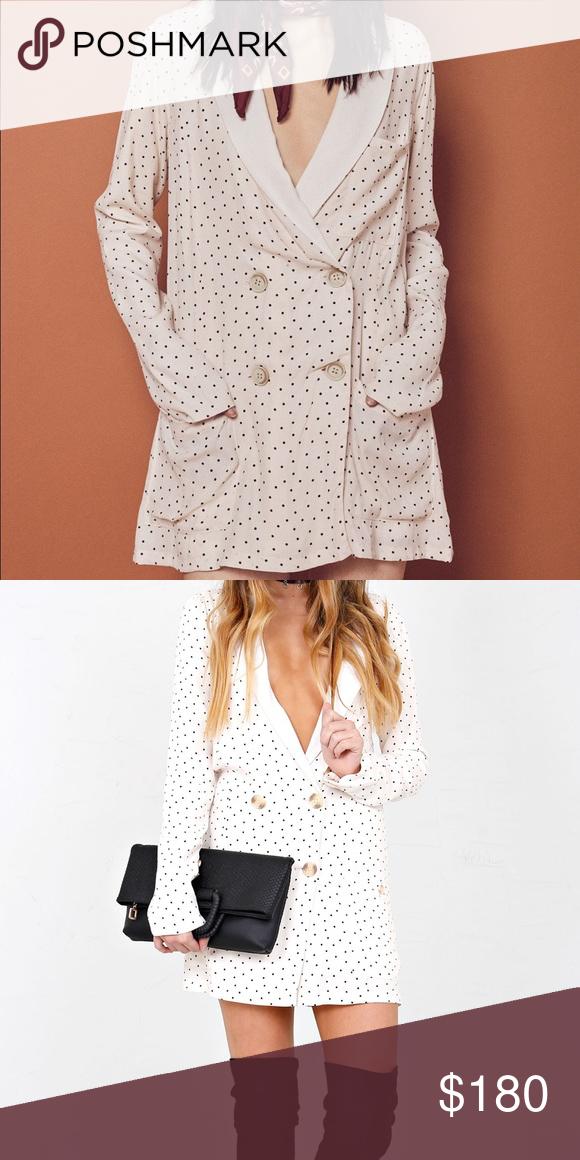 7194e30aadb71 For Love And Lemons Bianca Blazer Dress Brand new with tags, Bianca blazer  dress in creme dot For Love and Lemons Jackets & Coats Blazers