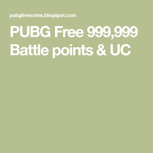 PUBG Free 999,999 Battle Points & UC In 2020