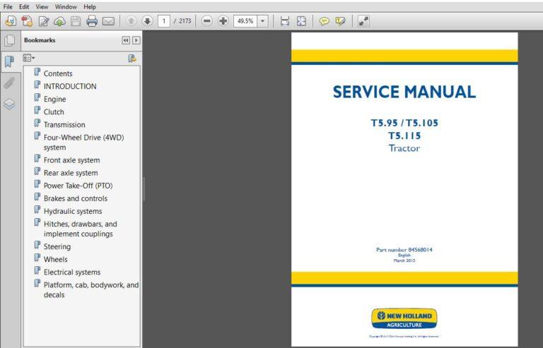 Case 9050B Crawler Excavator Workshop Repair Service Manual Part ...