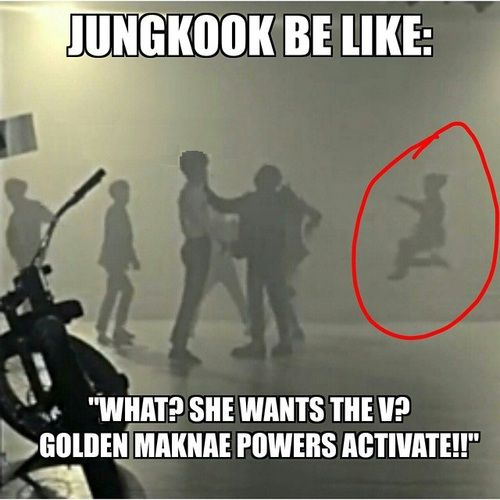 Jungkook powers activate! :D