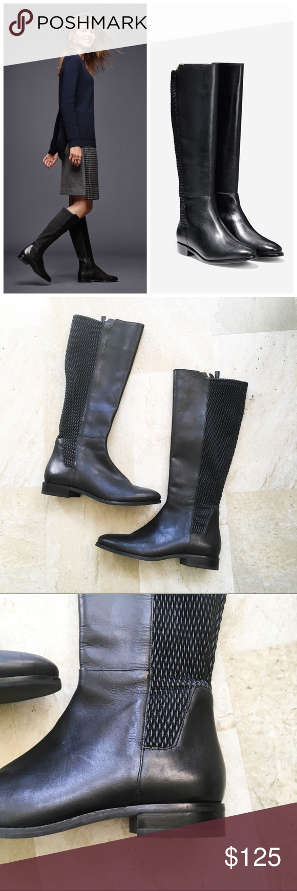 b8d8139e0bb Cole Haan Rockland Boots in Black Leather These are gently used Cole ...
