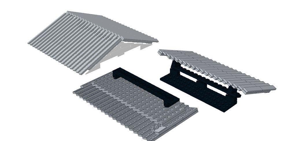 Corrugated Roof Lego Lego Construction Lego Design