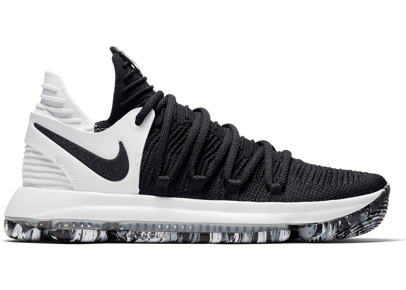 new styles 565cd 71795 Nike KD 10 Black White | Christmas List in 2019 | Black nike ...