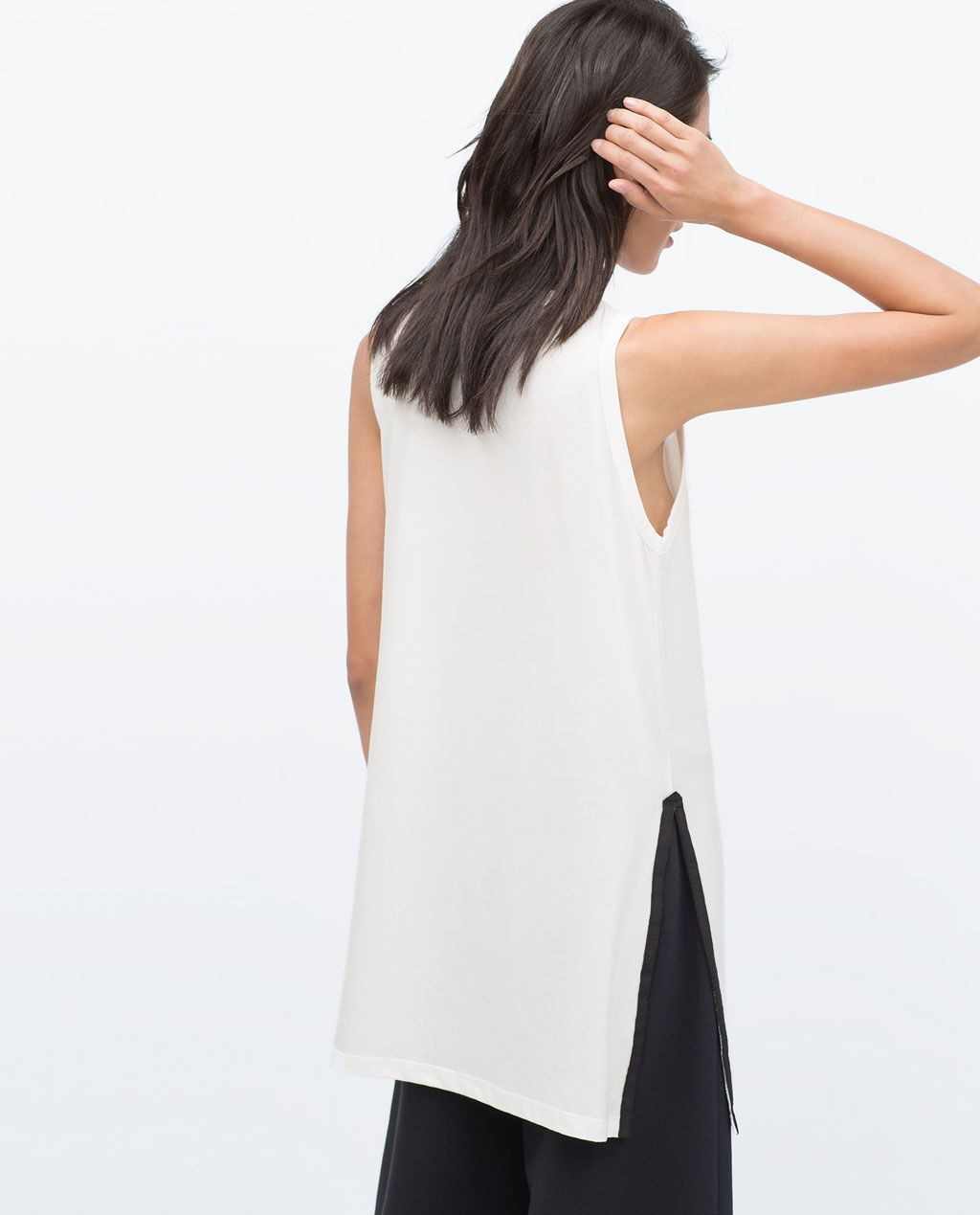 ZARA - NEW THIS WEEK - LONG T-SHIRT WITH SLITS