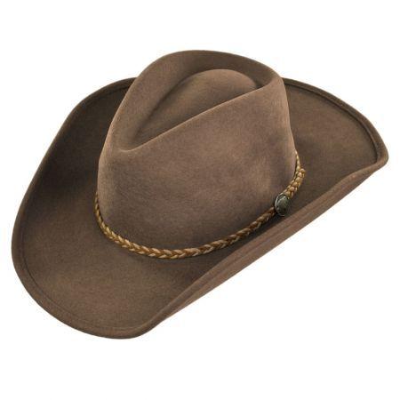 d03aa6591c4 Rawhide Buffalo Fur Felt Western Hat | Burning Man | Western cowboy ...