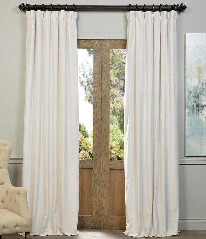 Thalia Velvet Blackout Single Curtain Panel Cool Curtains