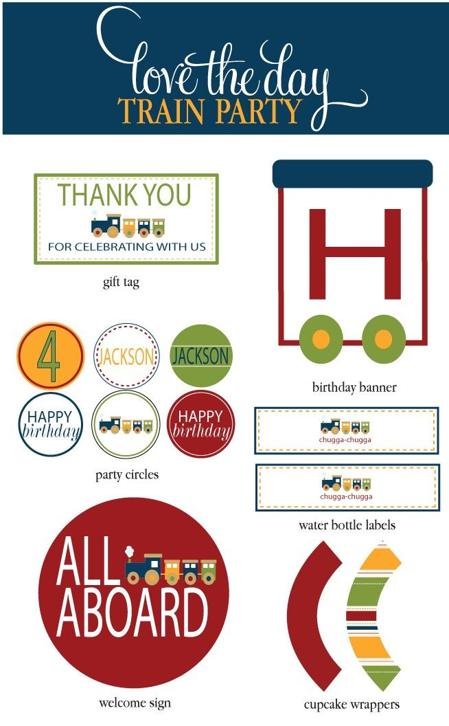 free train party printables - Bing Images
