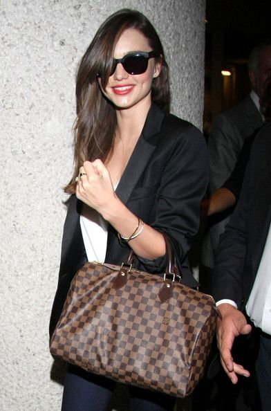 6f2cdebbe883 Miranda Kerr   Louis Vuitton Damier Ebene Speedy 35 The bag  333 ...