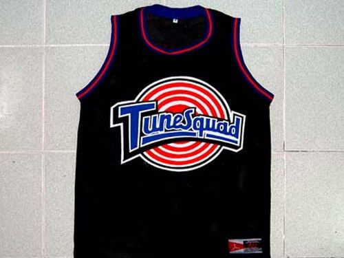 d6f77ddfd95 Michael Jordan Tune Squad Space Jam Movie Jersey Black New Any Size XS 5XL  | eBay