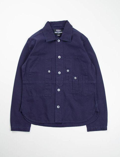 b05a94a9fb59 Nigel Cabourn Lybro Dark Navy Work Shirt