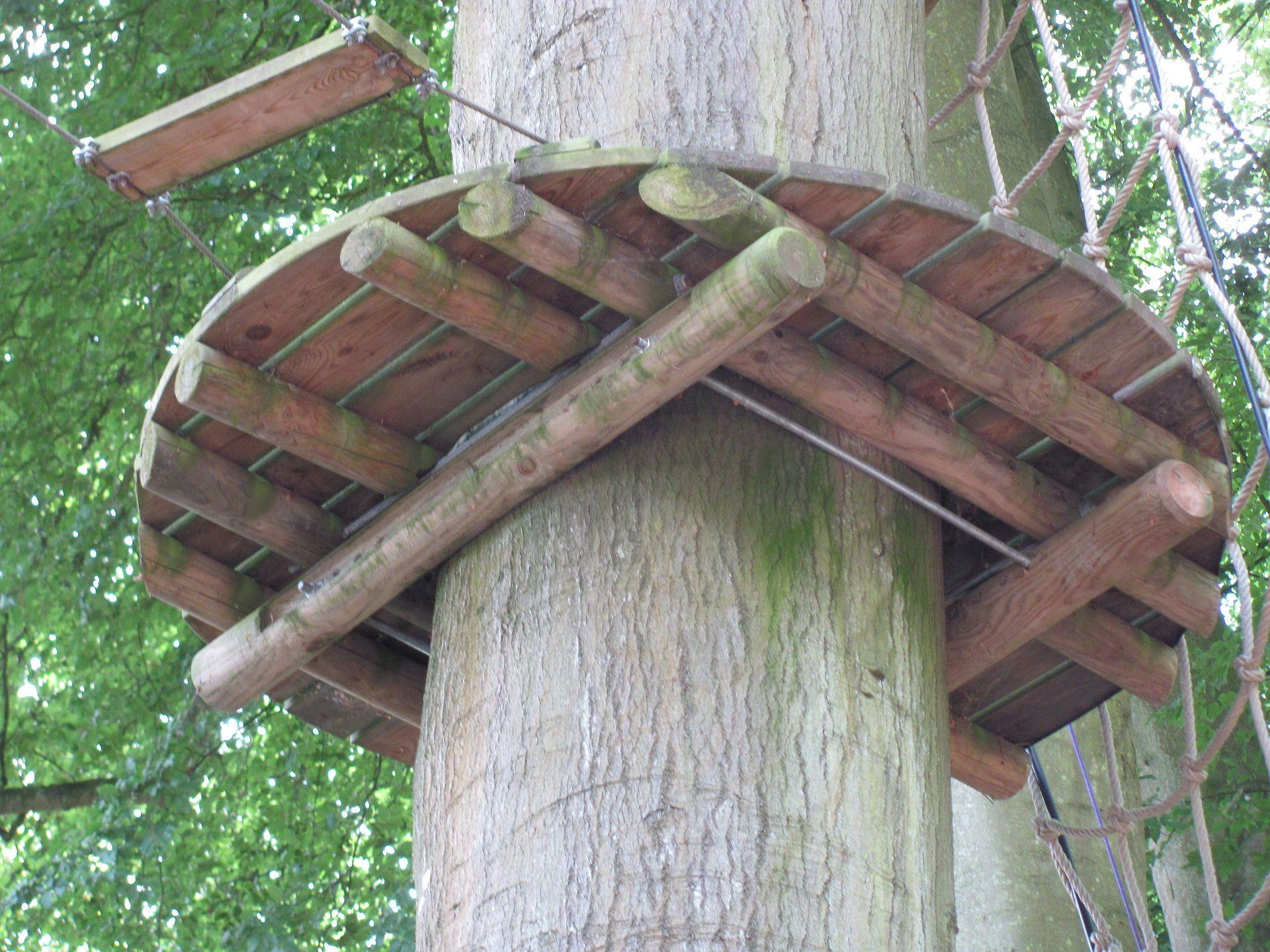 Non Invasive Method Of Fixing A Tree Platform Tree House