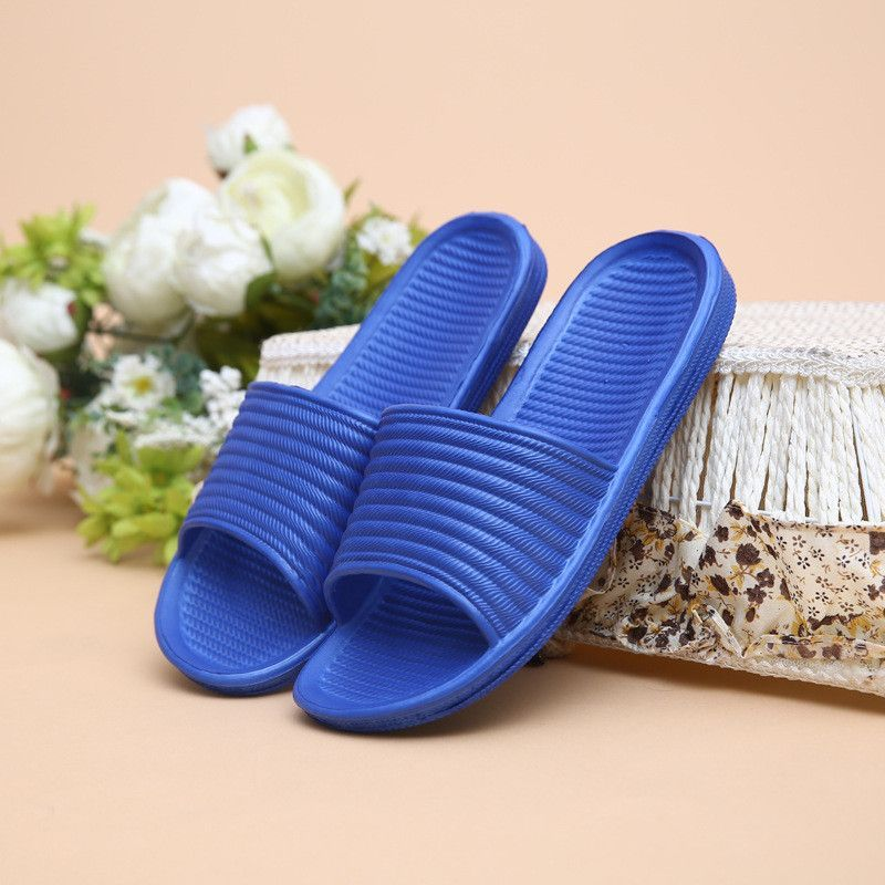 New Fashion Spring Summer Household Floor Antiskid Slipper Man Male Casual Waterproof Shoes Zapatos Striped Men Home Indoor Shoe