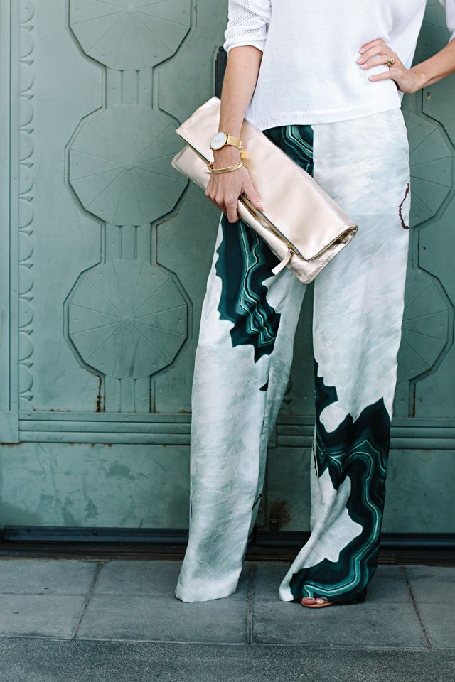 Malachite-print pants! ||  11 Ways To Liven Up Your Look Now