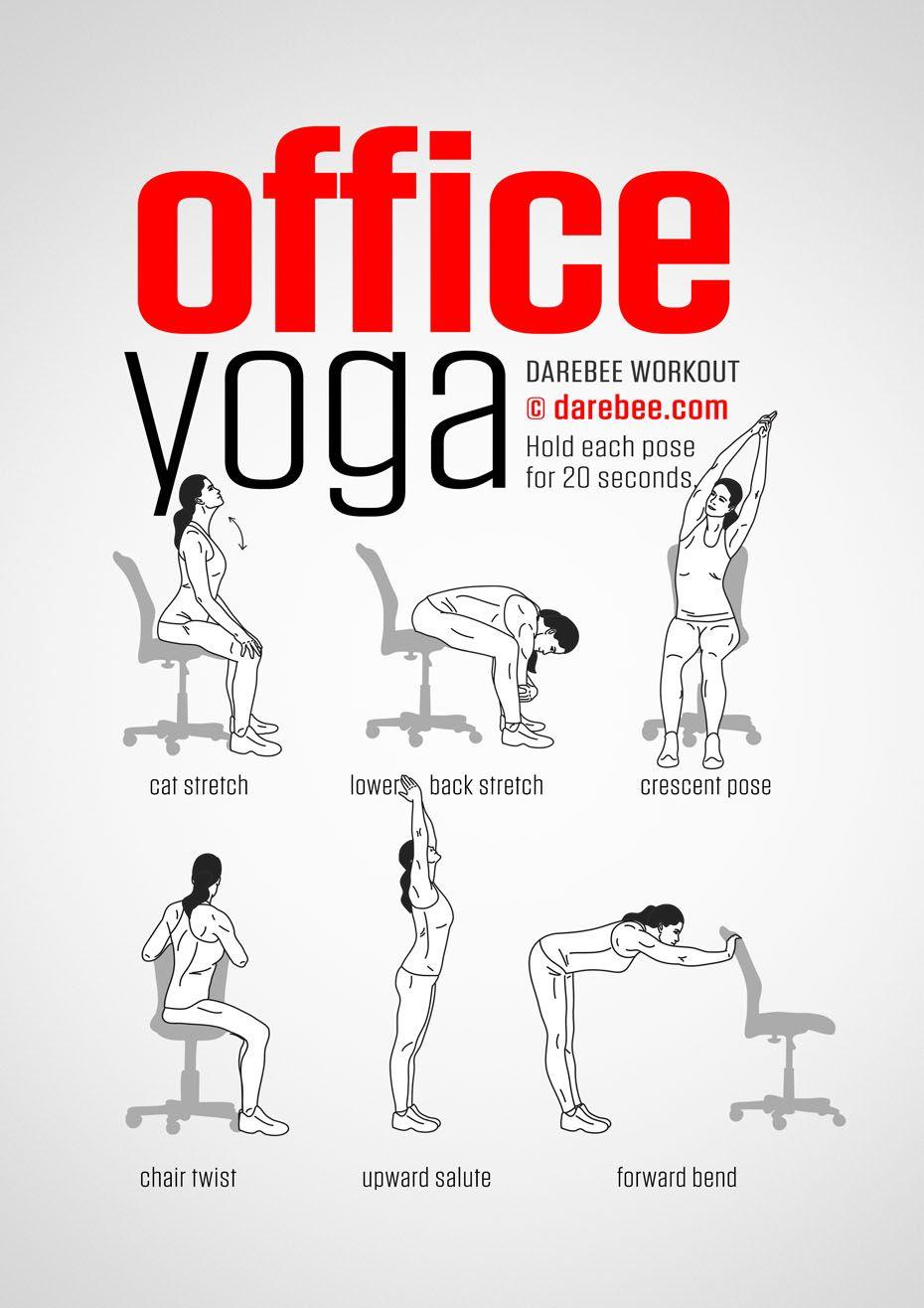 office yoga workout yoga pinterest gesundheit und fitness sport und ern hrung und fitness. Black Bedroom Furniture Sets. Home Design Ideas