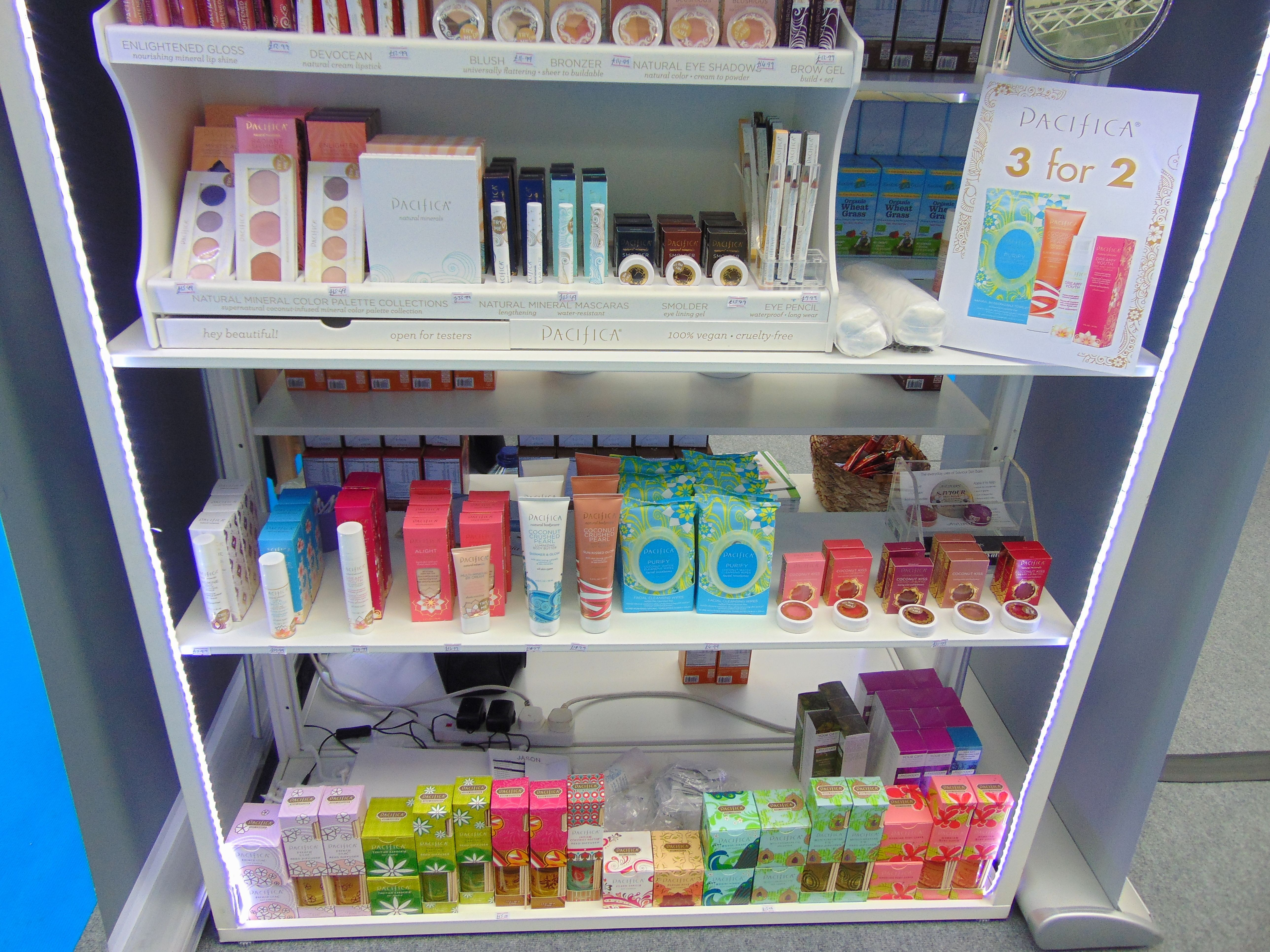 Pacifica showing off their amazing range of natural makeup at the Love Natural, Love You Show in London this weekend