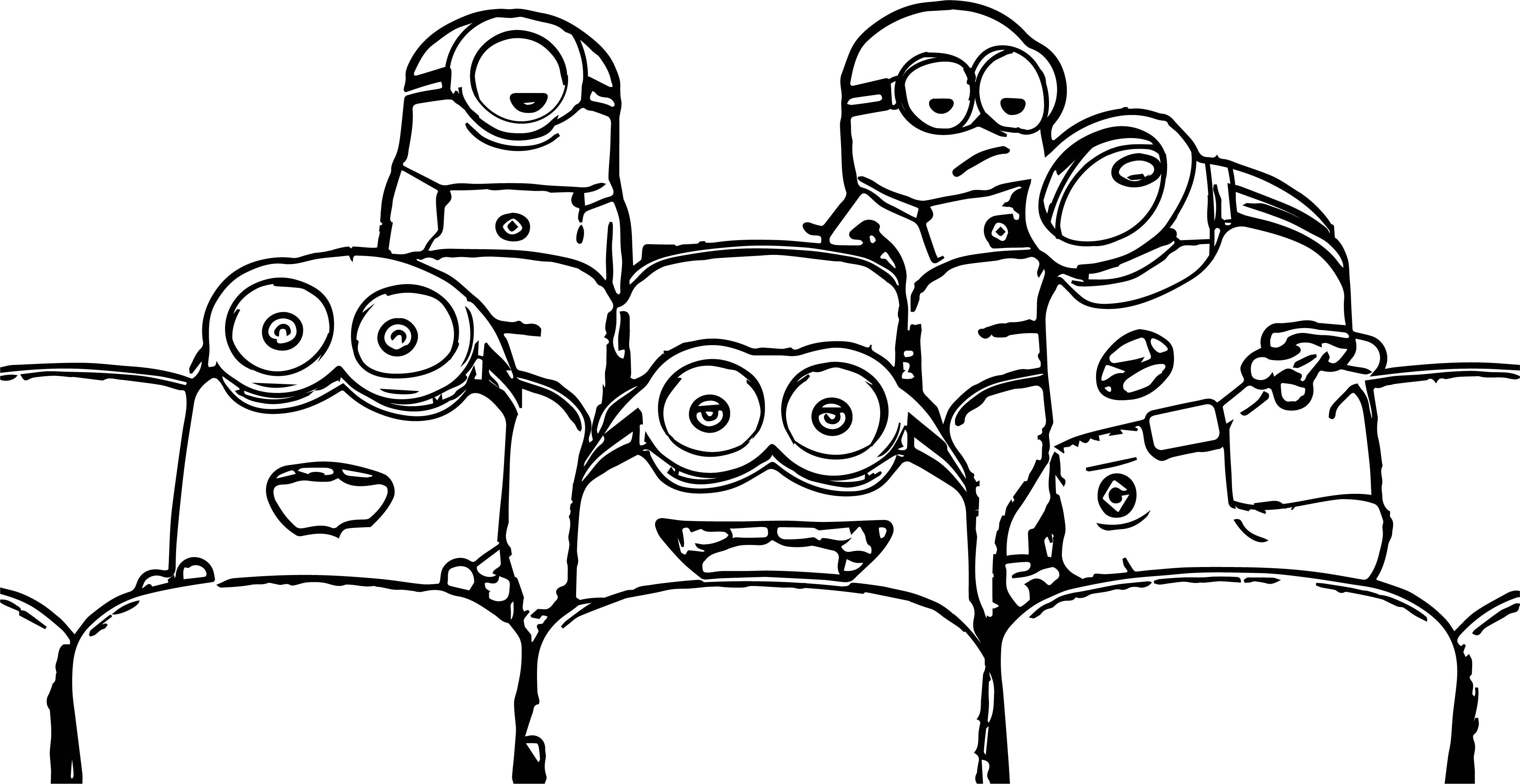 nice Cute Minion Cinema Coloring Page Coloring pages