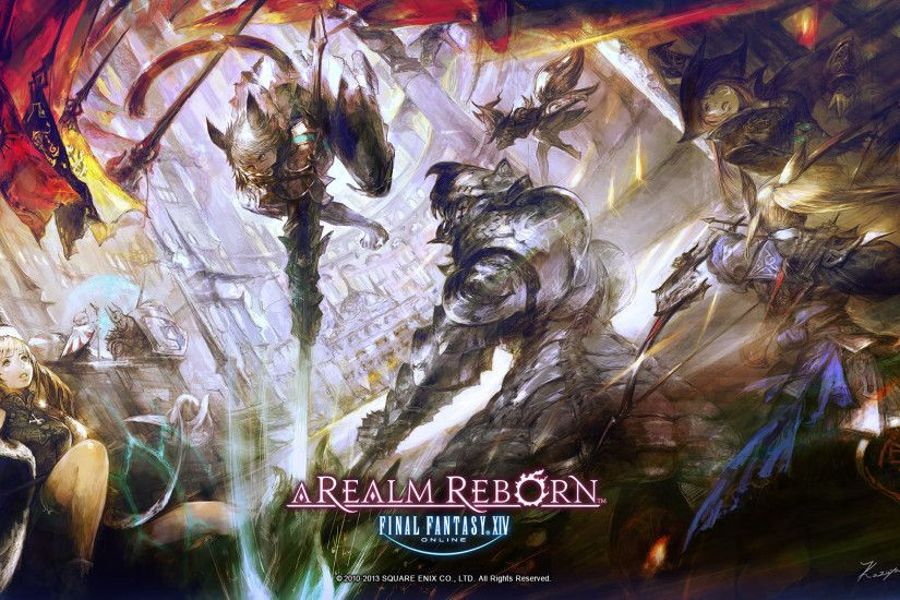 Final Fantasy XIV A Realm Reborn Wallpapers Jogos Online(画像あり ...