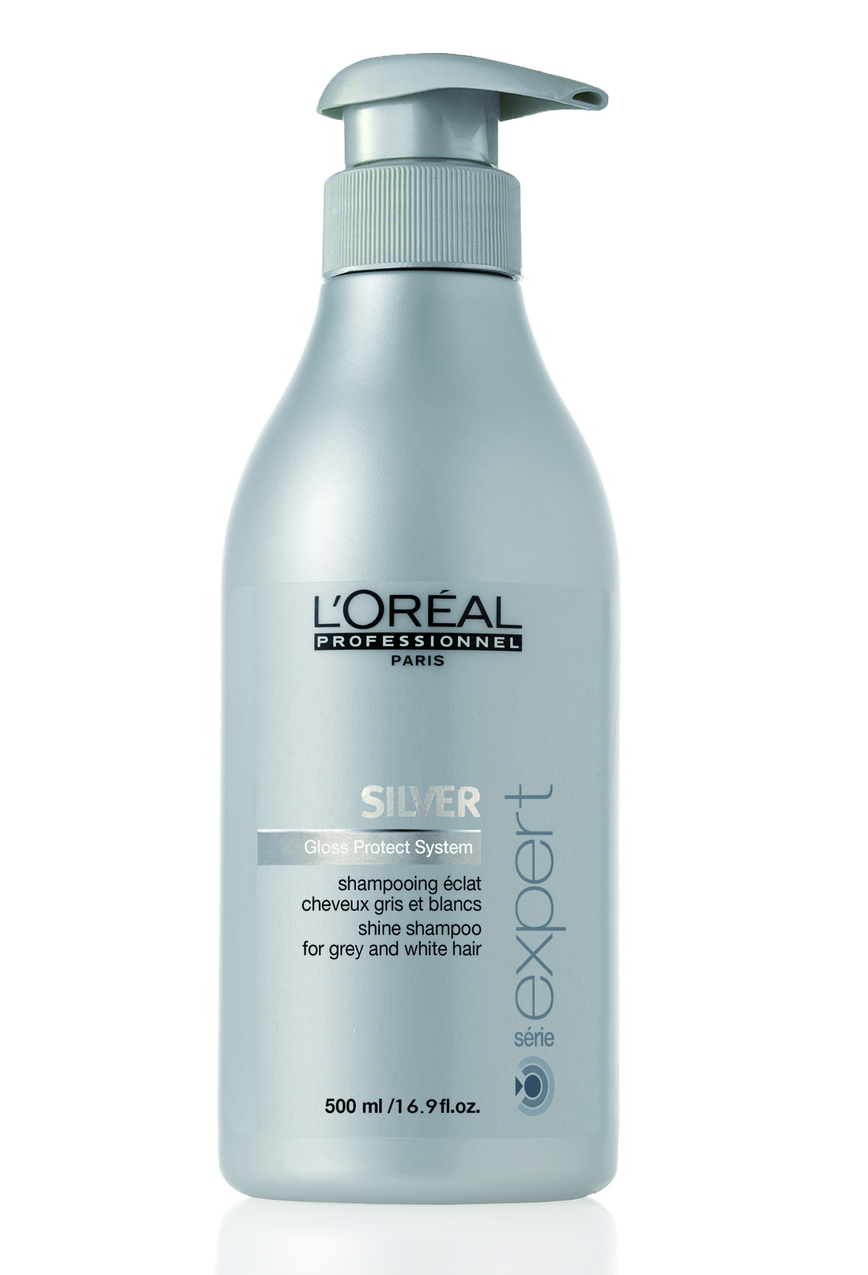 hair grey shampoo silver shine care expert professionnel paris волосы светлые 500ml shampoos purple gray oreal ingredients serie oreal