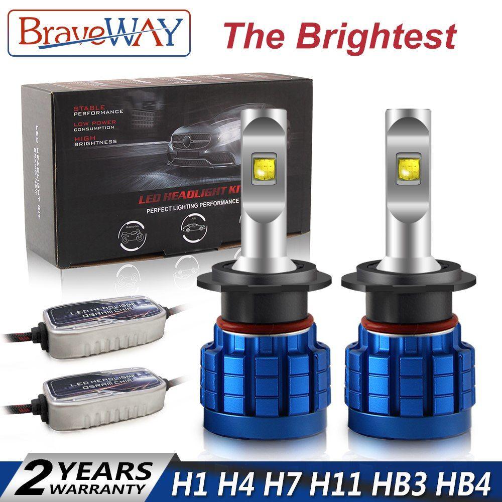Braveway The Brightest Led Headlight Bulb H1 H4 H7 H11 Hb3