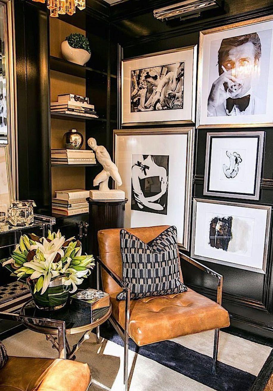 47 adorable masculine office d cor ideas man s office - Masculine interior design living room ...