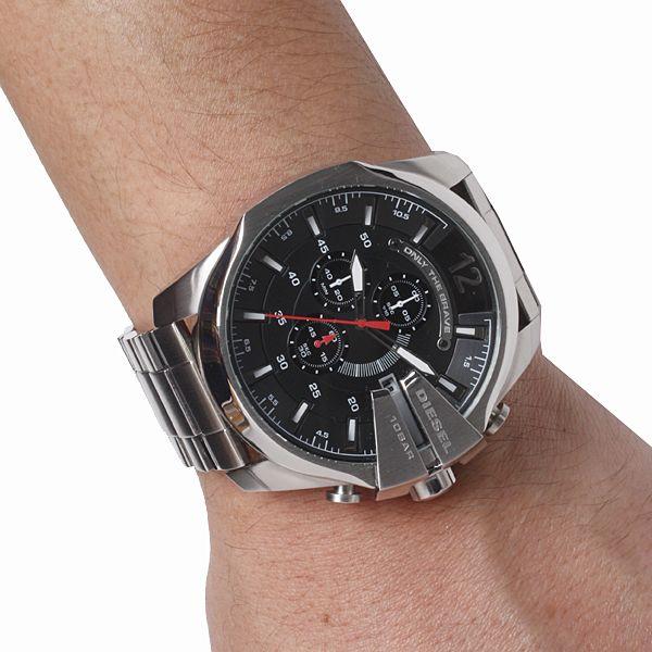 Diesel dz4308 men chronograph Mega chief silver stainless steel bracelet  watch. Striking Men s watch from a4d4aebe386