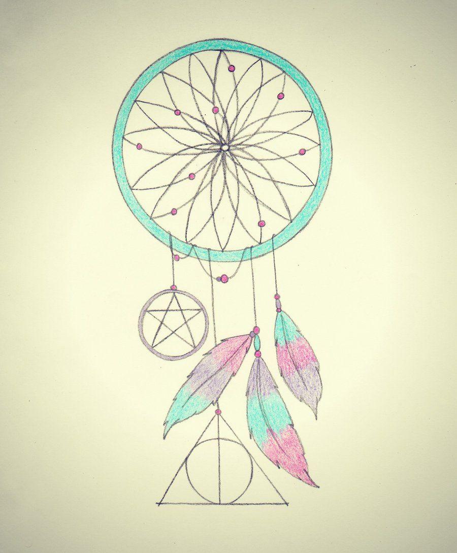 Color art dreamcatcher - Dreamcatcher Tattoo Design Colored By Hauntedfairytale13 Deviantart Com