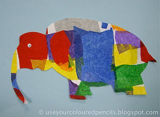 """Great way to do the """"Elmer"""" Book elephant!"""