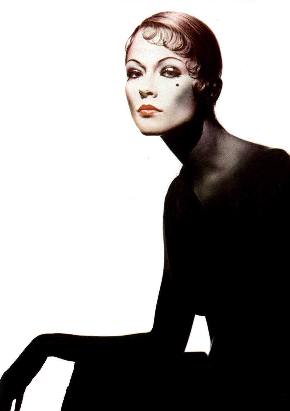 By Clive Arrowsmith for Vogue UK (September 1973).