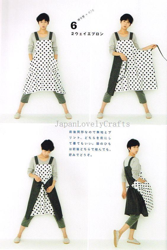 Resultado de imagen de patron delantal japones | Moldes y Costuras ...