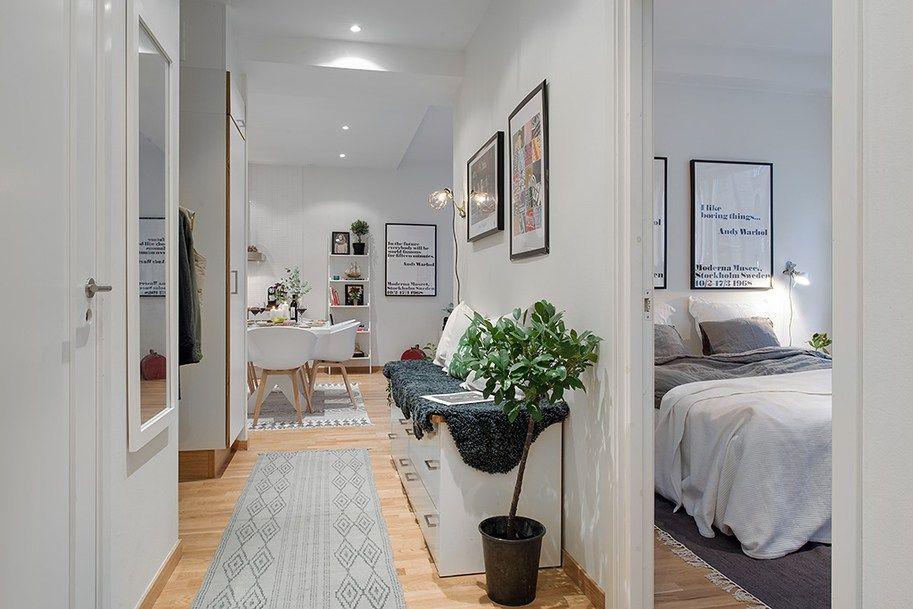 54 m² nórdicos que parecen el doble - plan maison avec appartement