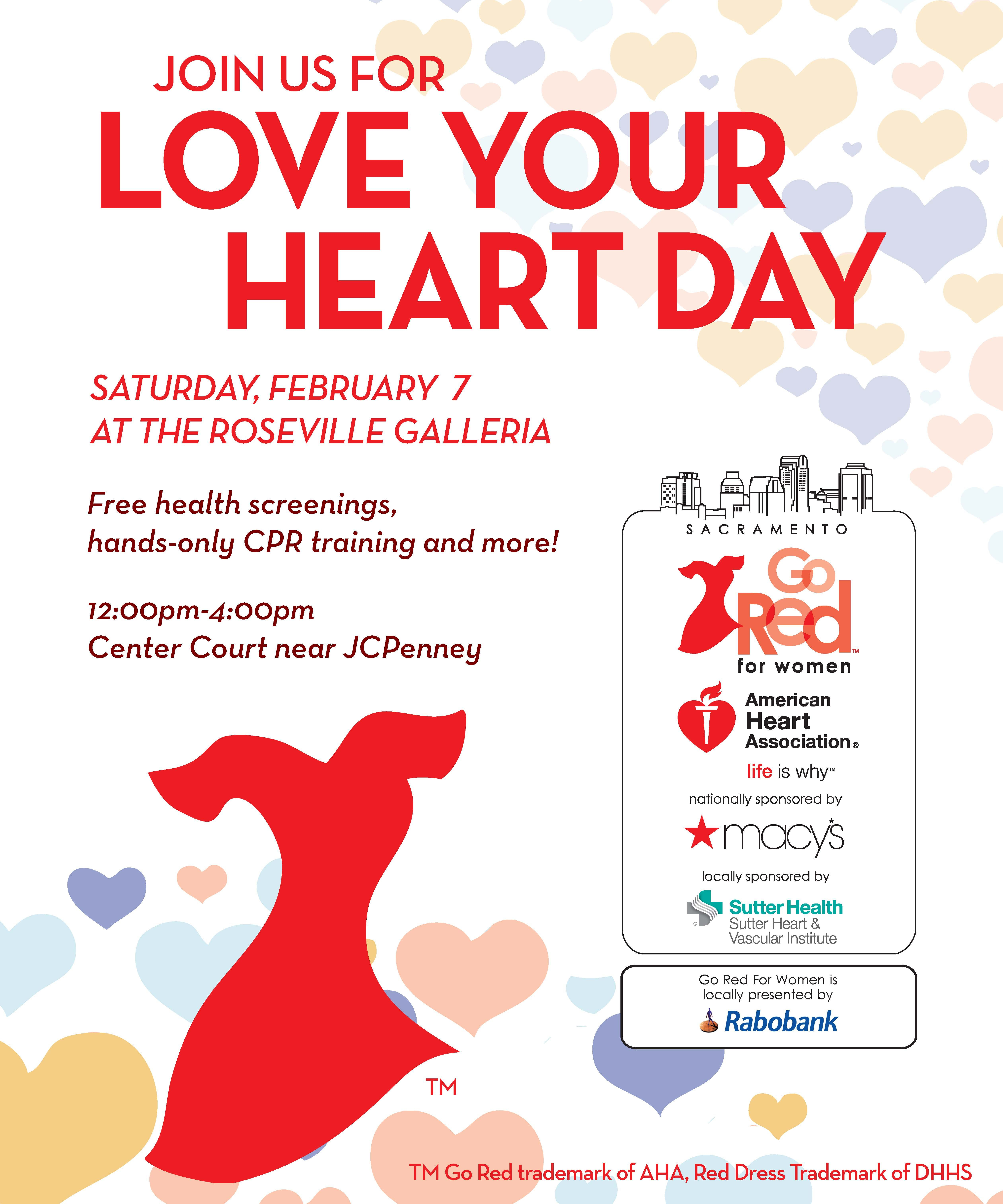 Join us for LoveYourHeartDay at the