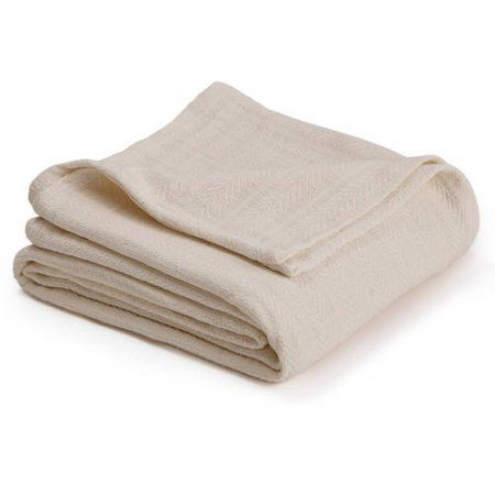 Ultra-Touch Cotton Woven Blanket, Beige