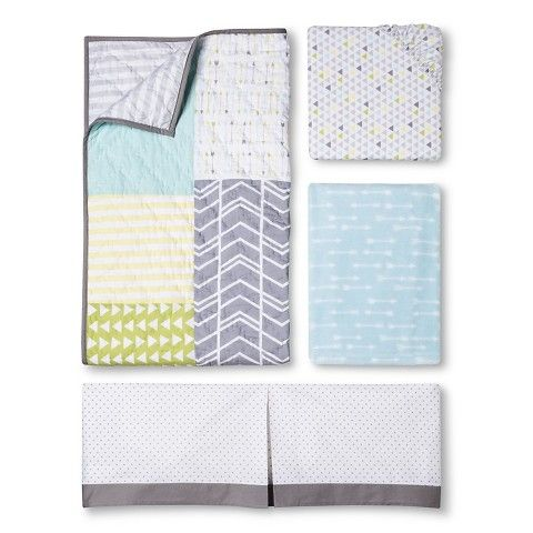 Circo 4pc Crib Bedding Set Geo Patchwork