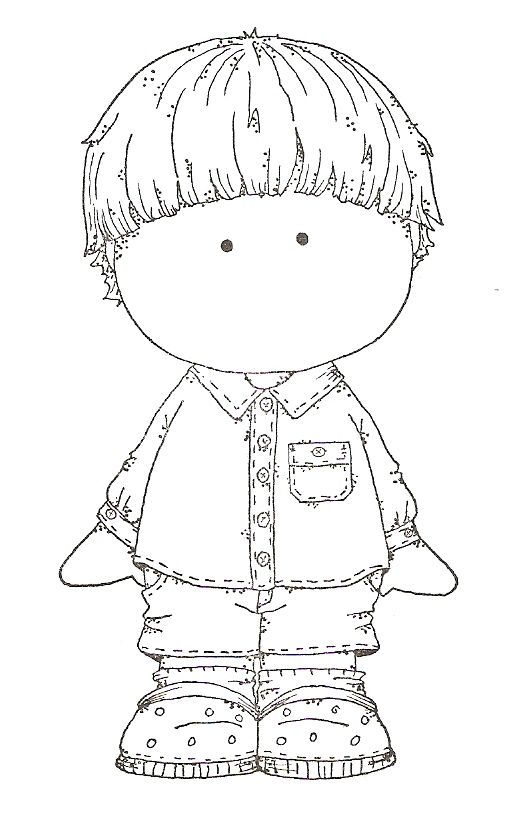 Digi stamp- Child in pj's