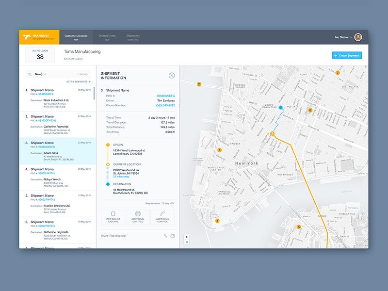 Delivery Interface Interface Design User Interface Design Dashboard Design