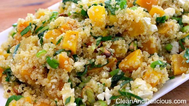 Quinoa + Beet Salad - Clean & Delicious® PRINT the recipe here: http://cleananddelicious.com/2014/07/09/golden-beet-and-quinoa-salad-with-feta-video/