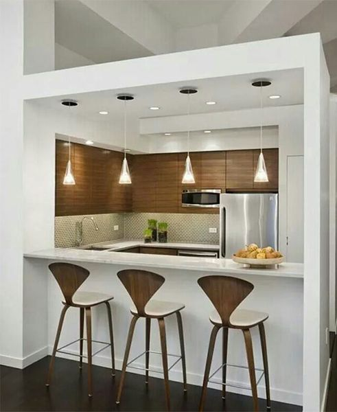 Contemporary Kitchen Vs Modern Kitchen: Very Creative Small Modern Designed Kitchen (box Kithen