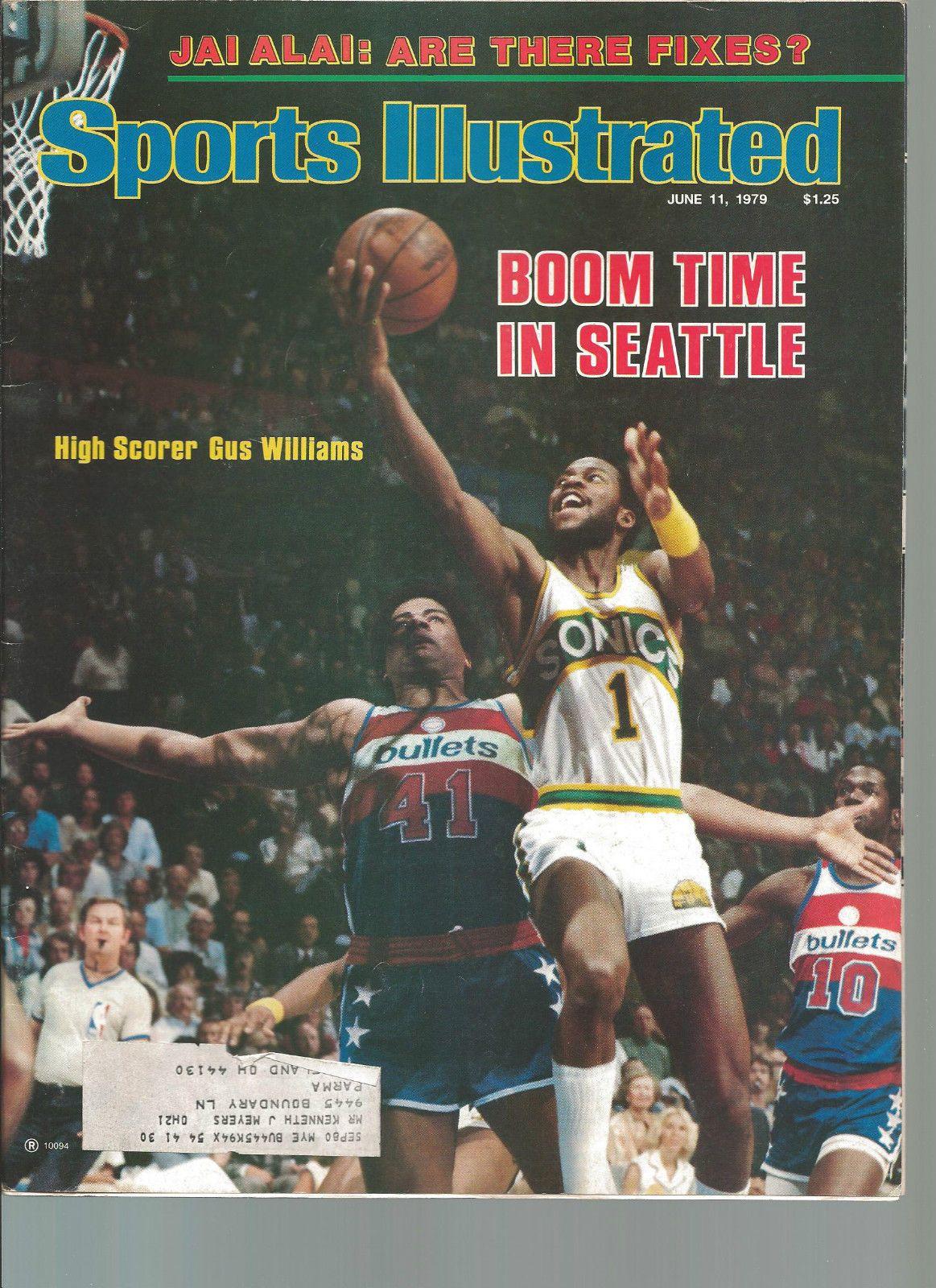 Gus Williams Seattle Sonics Sports Illustrated 6 11 79 Jai Alai