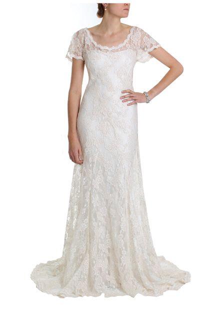 Sophia - 1920s Style Bias Cut Silk Lace Wedding Dress | dum da-da-da ...