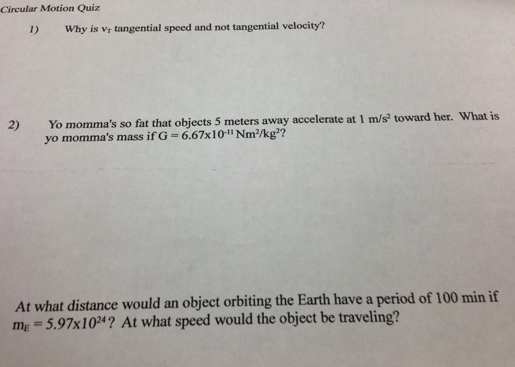 This Teacher Who Dropped An Unbelievable Diss Into The Middle Of His Physics Exam Momma Joke Physics Teacher Yo Momma Jokes