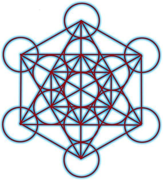 Archangel Metatron Sacred Geometry 85x85 Crystal Grid TemplateIntuitiveWisdom Board Creat